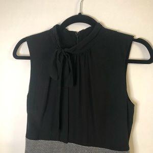 Merona Sleeveless Dress With Chevron Skirt X Small